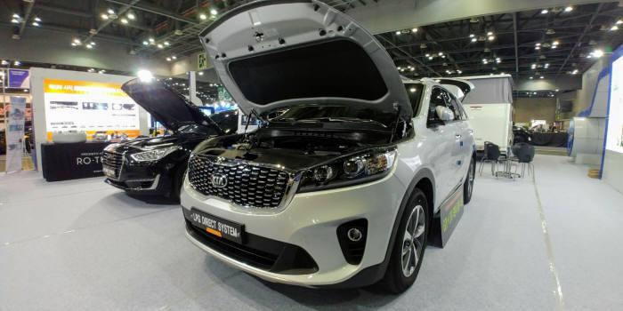 LPG 연료를 사용할 수 있게 개조한 기아자동차 쏘렌토. [자료:LPG산업협회]
