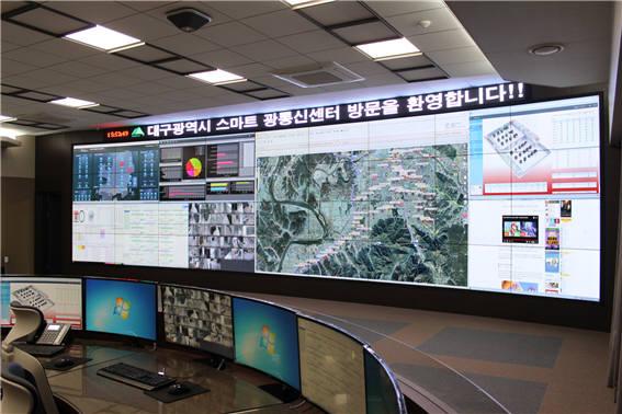 초고속 광대역 자가통신망을 운영할 스마트광통신센터 내부.