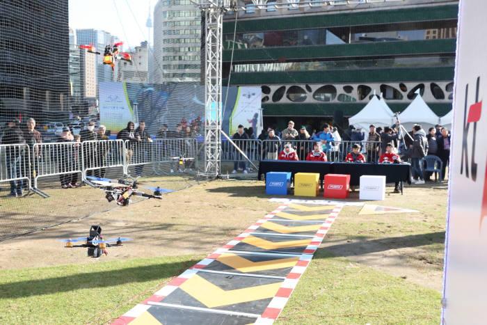KT, 서울 도심에서 드론레이싱 대회