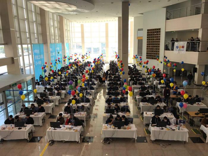 제17회 한국대학생프로그래밍경시대회 현장 모습.