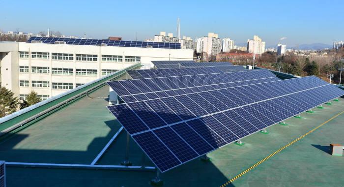 수도전기공업고등학교 옥상 태양광
