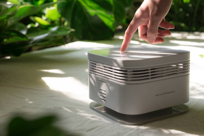 한국기계연구원이 ㈜에어비타와 함께 개발한 공기청정기 더스트제로.