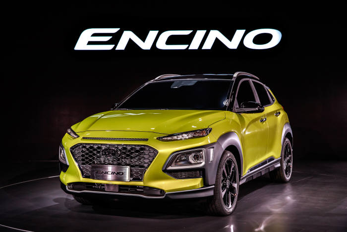 현대자동차가 <광저우 모터쇼>에서 공개한 중국형 소형 SUV '엔시노(ENCINO, 국내명 코나)' (제공=현대자동차)