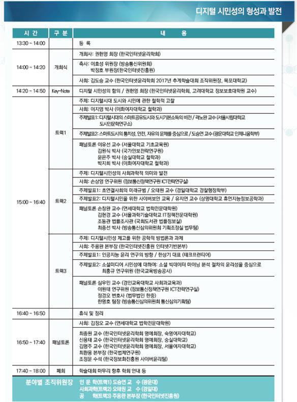 한국인터넷윤리학회, '디지털시민성의 형성과 발전'을 주제로 추계학술대회 개최