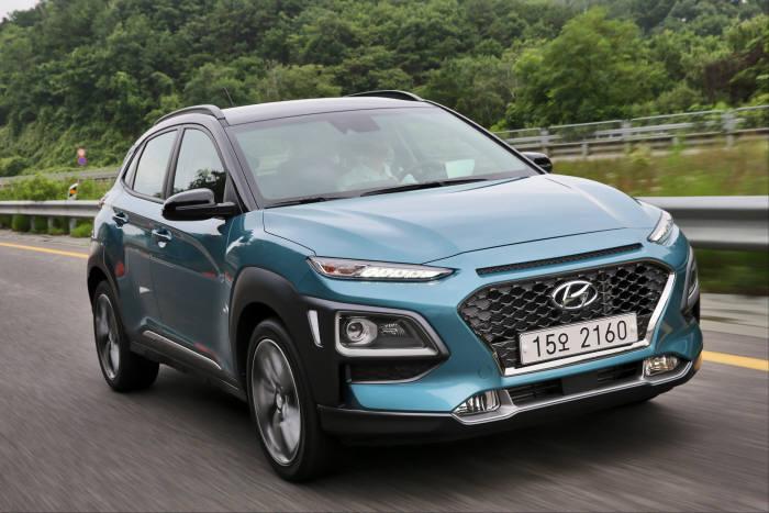 현대자동차 소형 SUV '코나'. 내년 상반기 코나 기반의 전기차(EV)가 양산된다.