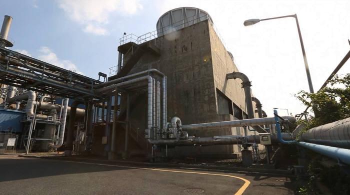 울산시 성암소각장 폐열로 생산한 스팀을 미포산업단지에 입주한 효성 사업장으로 공급하는 생태산업단지 모델.