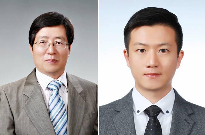 자외선 빛을 이용해 한 기판 위에서 다양한 나노 패턴을 제작하는 기술을 개발한 김진곤 포스텍 교수(왼쪽)와 석·박사 통합과정 최청룡 씨.