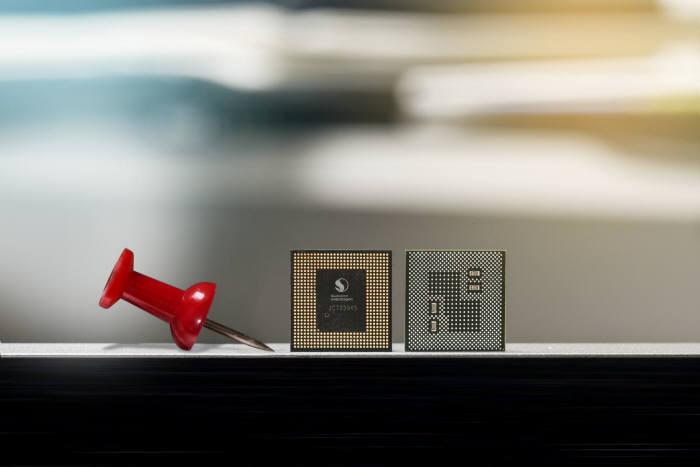 퀄컴 스냅드래곤 845 칩 사진.