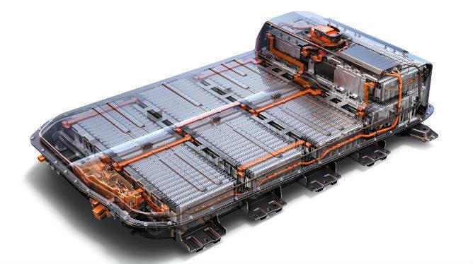 GM 쉐보레 볼트(Bolt) 대용량 배터리. 볼트는 60kwh급 LG화학 배터리를 장착했다.