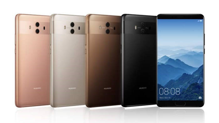 화웨이의 최신 스마트폰 '메이트 10'