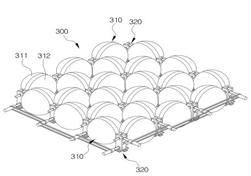 전방향 옴니 드라이브 볼 조립체를 이용한 전방향 모션 생성장치 개념도