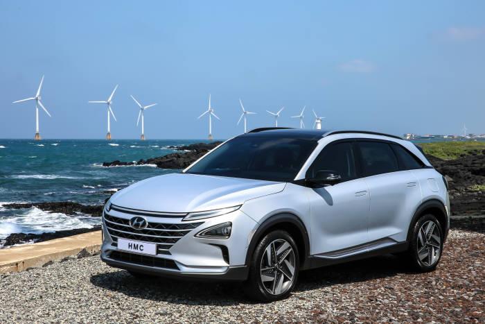 현대자동차가 2018 평창동계올림픽에서 자율주행 시범 운행을 진행하는 차세대 수소전기차(FCEV) (제공=현대자동차)