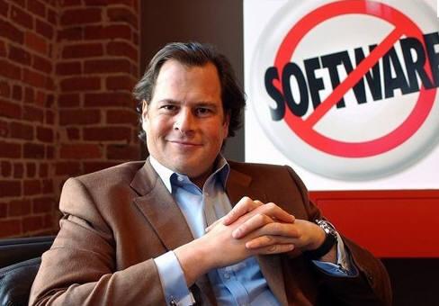 마크 베니노프 세일즈포스닷컴 CEO가 스티브 잡스가 회사 설립에 막대한 영향을 끼쳤다고 회상했다.(자료:테크크런치)