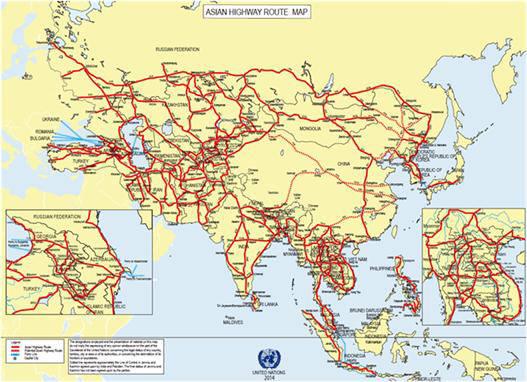 아시안하이웨이 맵