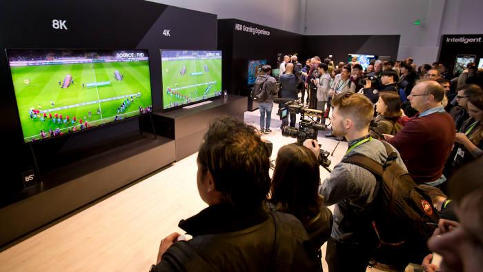 삼성전자 85형 8K QLED TV와 4K TV 화질 비교