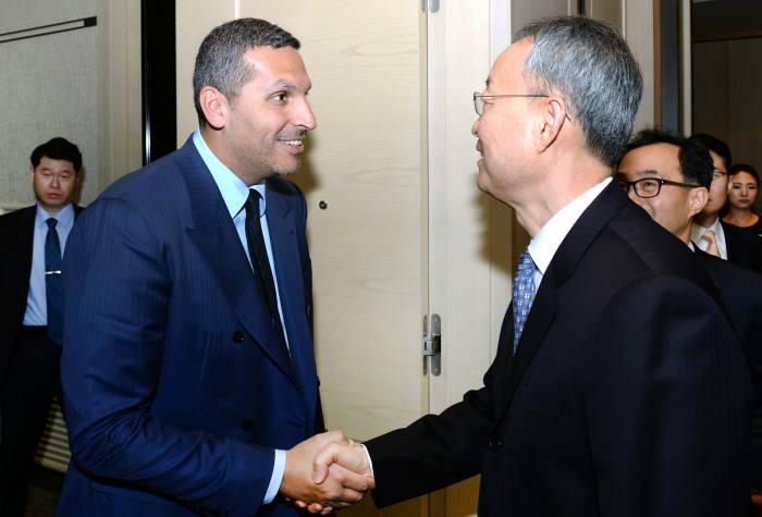 칼둔, 백운규 산업부 장관과 사우디 공동 진출 등 원전 협력 논의