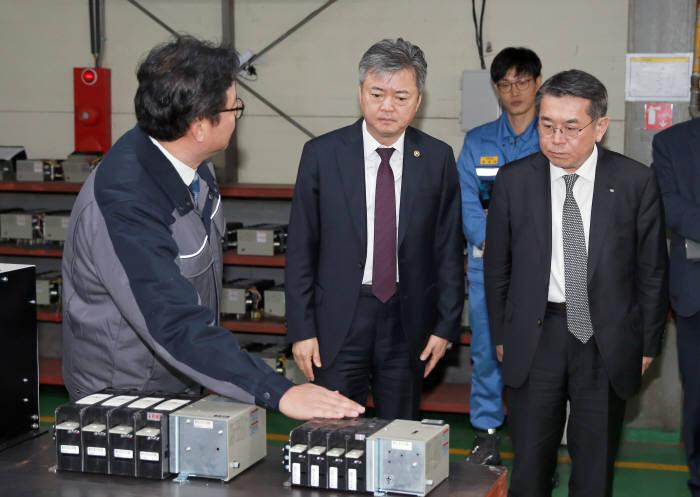 이인호 산업부 차관, 산업혁신운동 우수 협력업체 방문