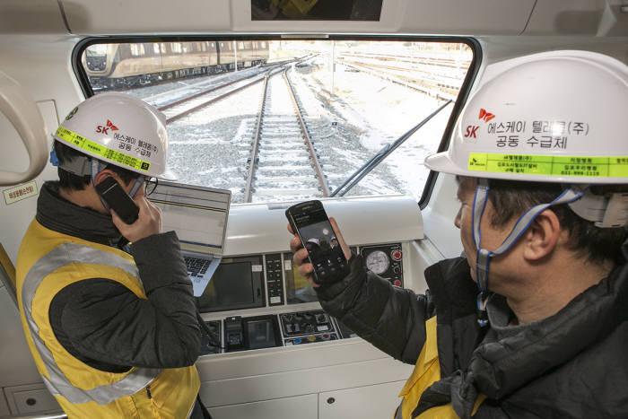 LTE-R이 구축된 김포도시철도 본선구간