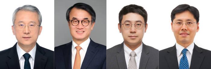 (왼쪽부터)김은준, 방영주, 김호민, 김범경 교수