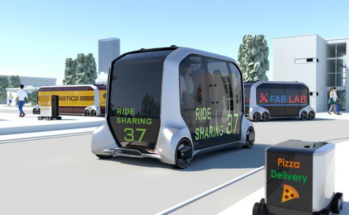 토요타가 공개한 모빌리티 서비스 전용 EV 콘셉트카 '이 팔레트(e-Palette)'.
