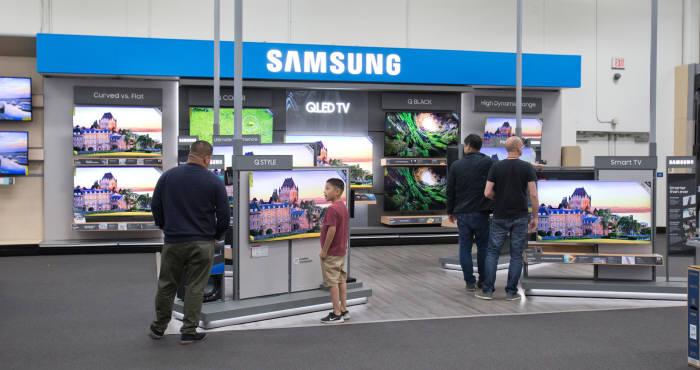 미국 베스트바이 매장 내 삼성전자 전시 공간