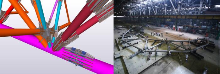 복잡한 철골 구조물 정확한 시공 돕는 테클라 스트럭처스