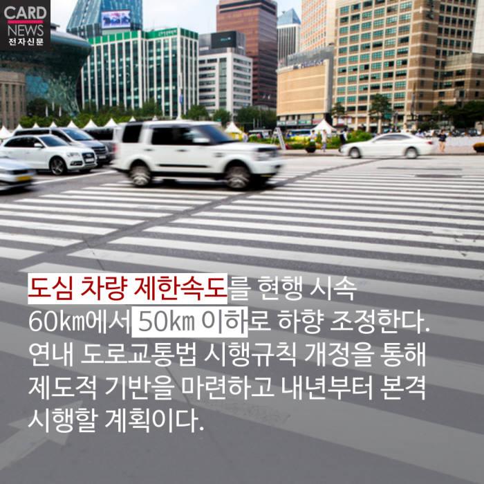 [카드뉴스]교통사고 사망자 2022년까지 절반으로 줄인다