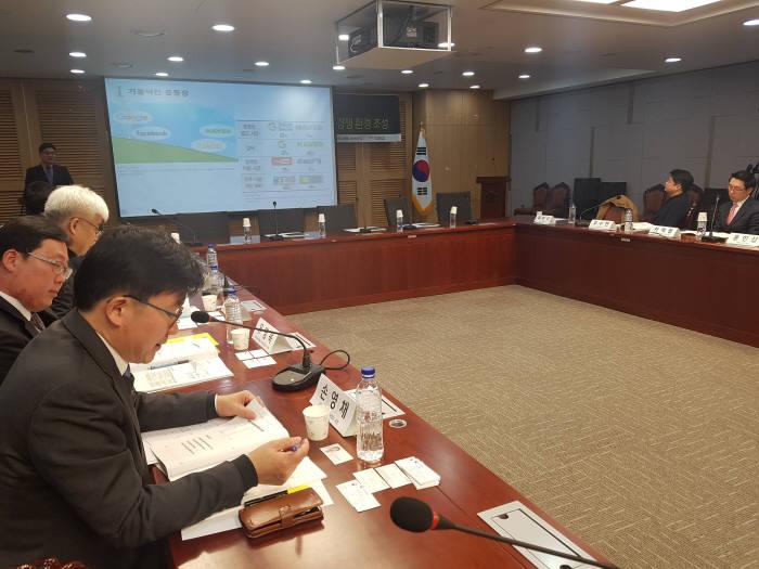 더불어민주당과 한국인터넷기업협회가 8일 개최한 '인터넷시장 역차별 해소' 토론회 현장.