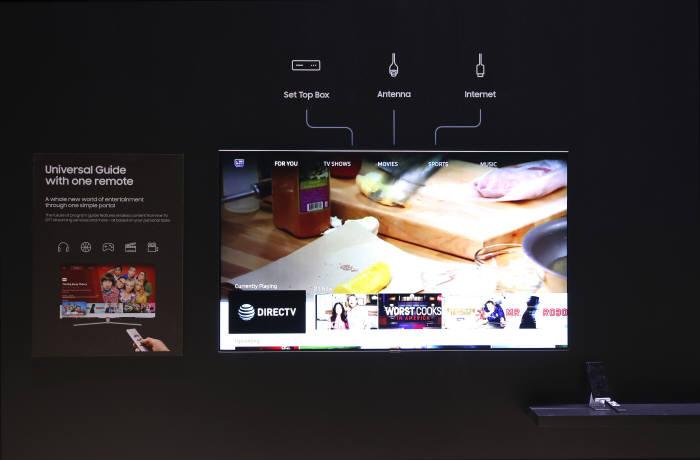 TV와 주변 기기의 리모컨을 통합한 '원 리모컨'은 OTT 서비스와 셋톱박스 등 여러 서비스 콘텐츠를 손쉽게 확인할 수 있게 해준다.