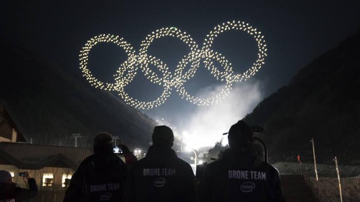 평창동계올림픽 개막식 방송 수놓은 인텔 드론