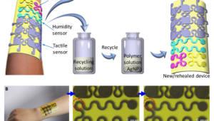 자가 회복·재활용 가능한 전자피부 개발
