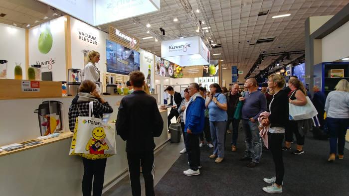 엔유씨전자는 R&D에 대한 꾸준한 투자와 동시에 세계 시장에 진입할 수 있는 기술 개발로 세계 가전시장에서 혁신을 일으키고 있다. 사진은 지난해 9월 독일베를린에서 개최한 iFA에 참가한 엔유씨전자 부스 전경.