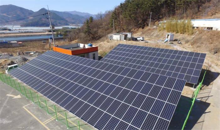 해줌이 폐업 가스충전소 부지에 설치한 태양광발전설비. [자료:해줌]