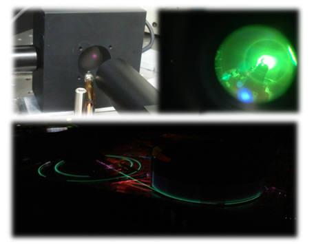 광섬유 레이저용 미러 격자를 활용한 30W급 근적외선 광섬유 레이저 발진 모습.