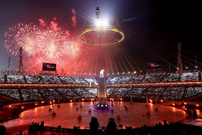 지난 9일 평창동계올림픽 개회식이 진행되는 도중 사이버 공격이 발생했다. (자료:평창올림픽 페이스북)