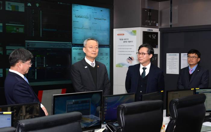 백운규 장관, 41개 산하 공공기관 사이버보안 대응상황 점검