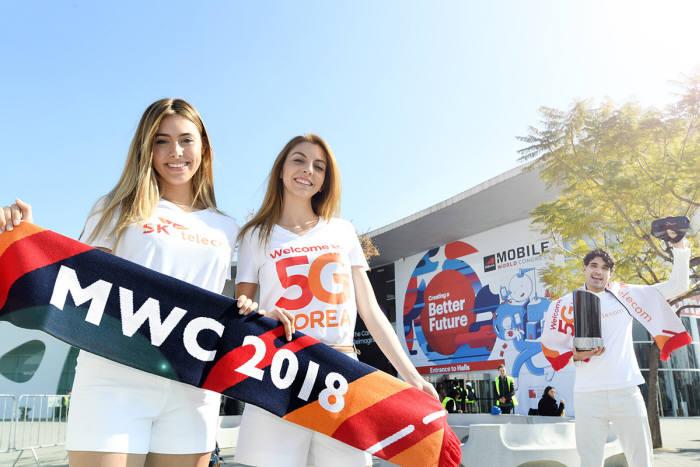 SK텔레콤이 MWC 2018에서 5G 기반 혁신 솔루션을 대거 선보인다.