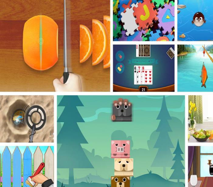 네오펙트가 제공하는 재활 훈련용 게임 이미지 캡쳐.