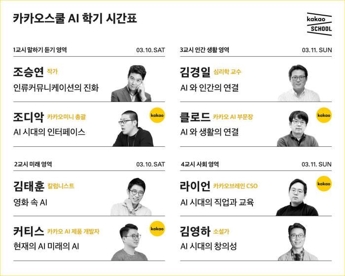 카카오, '인공지능' 주제로 '카카오스쿨' 개최