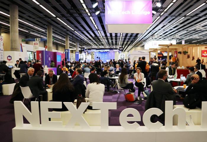모바일월드콩그레스(MWC) 2018에는 글로벌 벤처·스타트업 미래 기술을 엿보는 '넥스트 테크(Next Tech)' 부대행사가 열렸다.