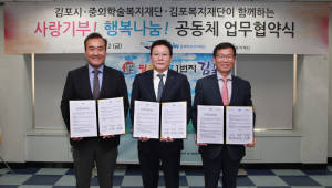 JW그룹, 김포시·김포복지재단과 사회공헌 협약 체결