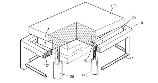 특허출원된 생체신호를 이용한 침대구동장치 설계도면. 수면 중 생체신호를 측정해 침대가 자동으로 경사를 이뤄 숙면을 취하도록 한다.