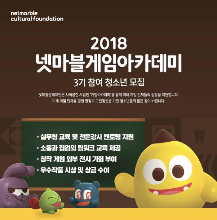 넷마블문화재단, '게임아카데미' 3기 모집
