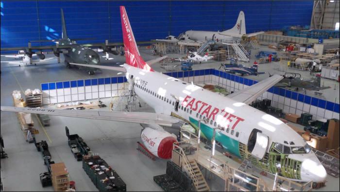 KAI 민수(이스타항공B737) 항공기 정비 사진 (제공=한국항공우주산업)