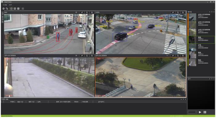인텔리빅스 스마트관제 화면