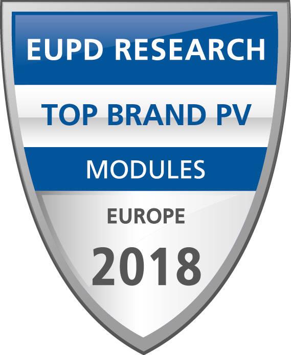 EUPD 태양광모듈 톱 브랜드 로고. [자료:한화큐셀]