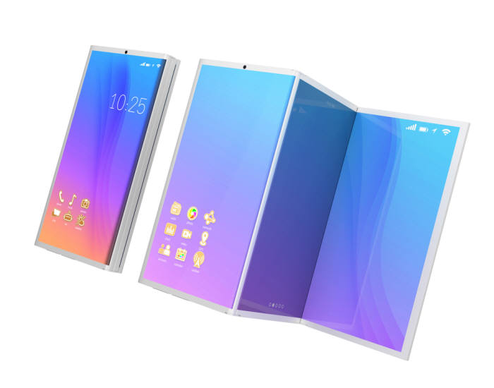 사진 2. 유연성 있는 디스플레이를 사용해 접었다 펼 수 있는 폴더블폰은 이제 상용화가 멀지 않았다. (출처: shutterstock)