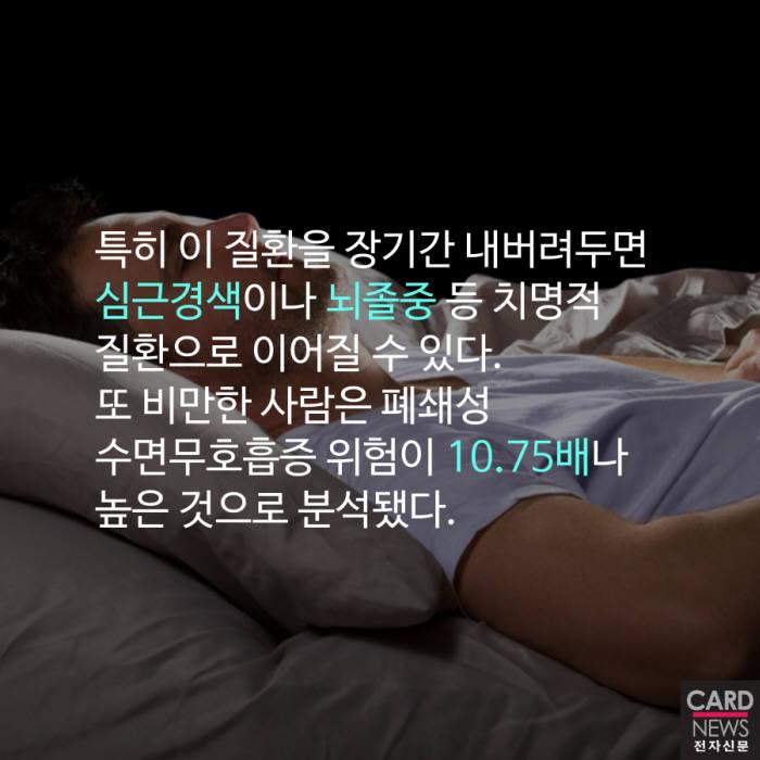 [카드뉴스] '폐쇄성 수면무호흡증'이 당신 건강을 해친다
