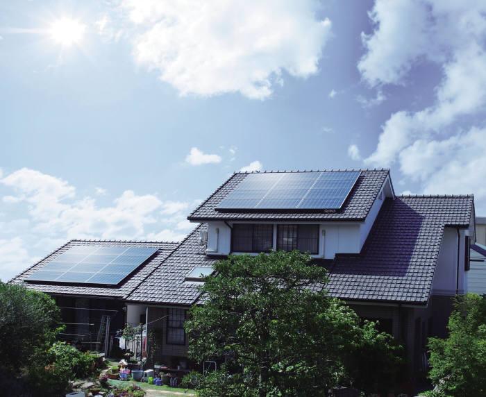 한화큐셀 큐피크가 설치된 일본 아이치현 주택. [자료:한화큐셀]
