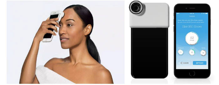 뉴트로지나 '스킨360' 기기 및 앱(자료: 디지에코)
